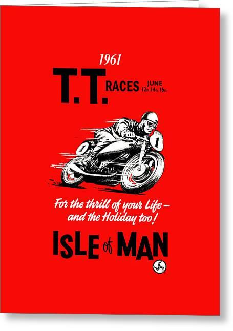Tt Races Phone Case Greeting Card by Mark Rogan