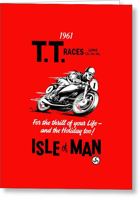 Motorcycles Greeting Cards - TT Races Phone Case Greeting Card by Mark Rogan