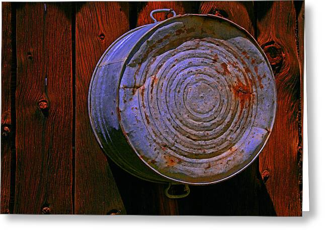 Ravaged By Time Greeting Cards - Bulls Eye Greeting Card by Mike Flynn