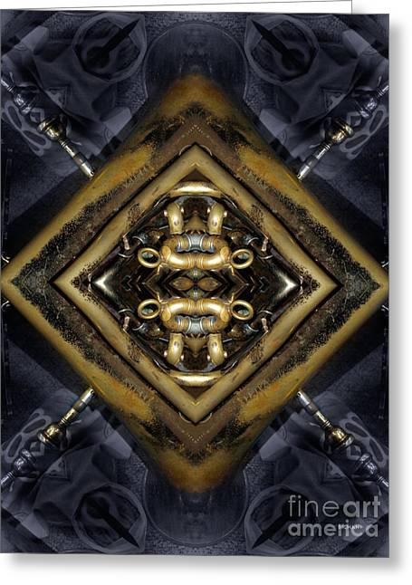 Geometric Design Greeting Cards - Tuba Art  Greeting Card by Steven  Digman