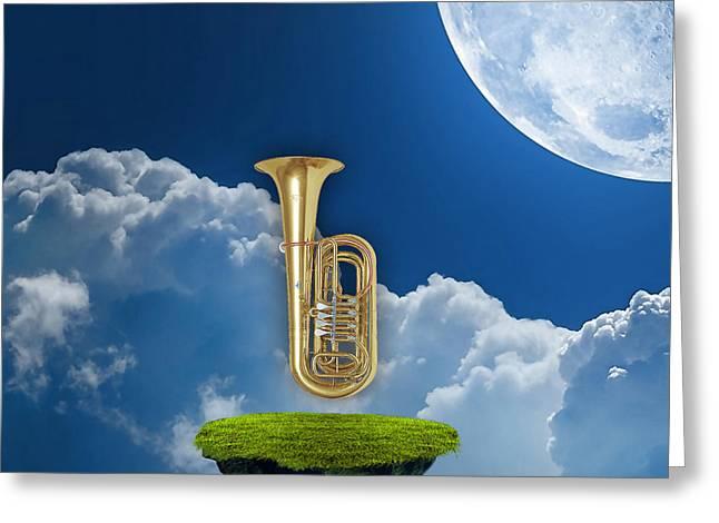 Tuba Dreams Greeting Card by Marvin Blaine