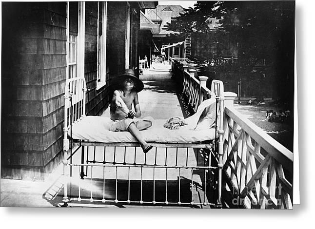 Sanitarium Greeting Cards - TUBERCULOSIS: c1900-1920 Greeting Card by Granger