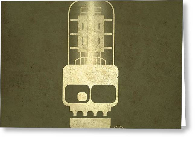 Olive Drab Greeting Cards - Tubeskull Greeting Card by Milton Thompson
