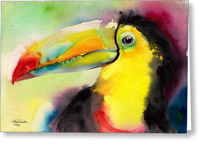 Toucan Print Greeting Cards - Tucano Greeting Card by Isabel Salvador