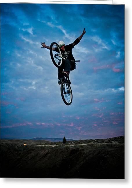Levi Greeting Cards - Tuck No Hander Greeting Card by Joel Loftus