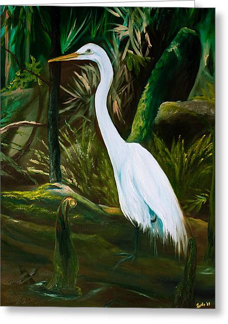 Tropical Wildlife Greeting Cards - Tucked Away Greeting Card by Eve  Wheeler