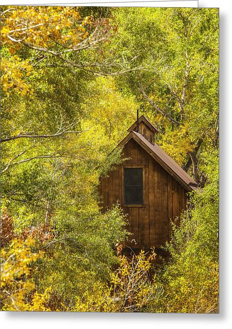 Cabins Photographs Greeting Cards - Tucked Away In Telluride Greeting Card by Darren  White