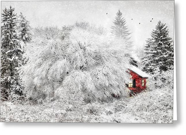 Christmas Greeting Greeting Cards - Tucked Away Greeting Card by Lori Deiter