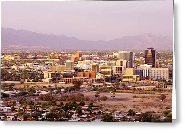 Overcast Day Greeting Cards - Tucson Arizona Usa Greeting Card by Panoramic Images