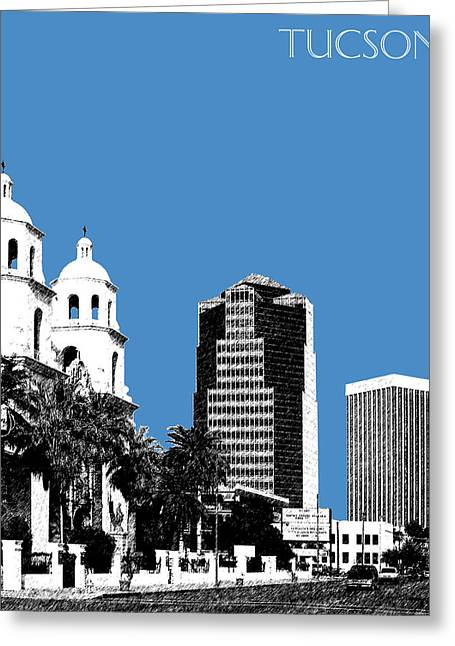 Arizona Posters Greeting Cards - Tucson Skyline 2 - Slate Greeting Card by DB Artist