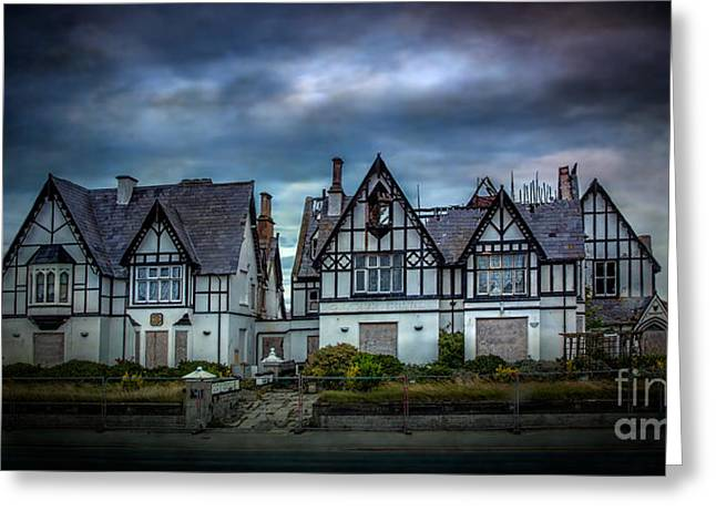 Tudor Gothic Decay Greeting Card by Adrian Evans