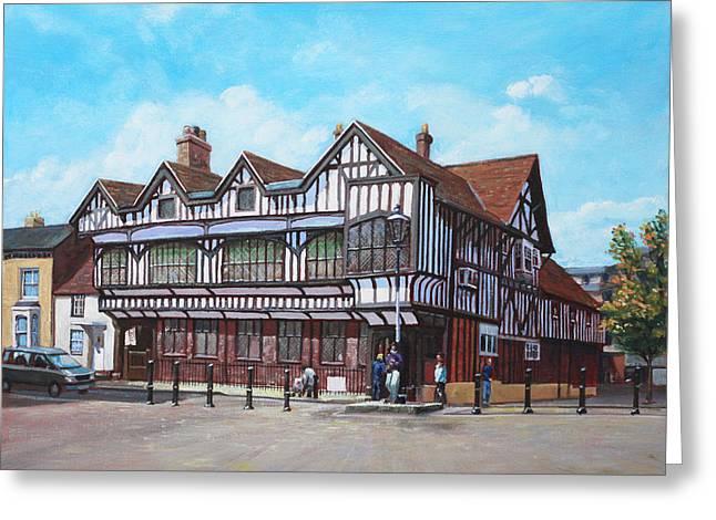 Southampton Paintings Greeting Cards - Tudor House Southampton Hampshire Greeting Card by Martin Davey