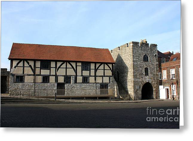 Terri Waters Greeting Cards - Tudor Merchants Hall Greeting Card by Terri  Waters