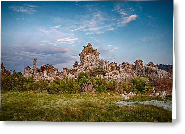 Tufa Greeting Cards - Tufa and Clouds Greeting Card by Cat Connor