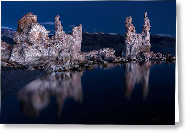 Tufa Reflections Greeting Card by Leland D Howard