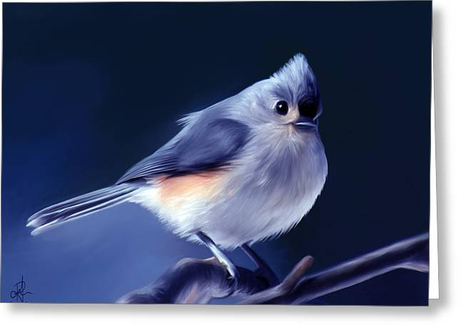 Tufty The Titmouse Greeting Card by Pennie  McCracken