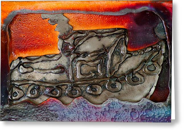 Drawing Reliefs Greeting Cards - Tugboat Greeting Card by Chip Vander Wier