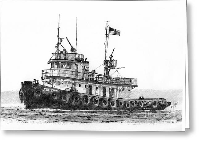Artist James Williamson Images Greeting Cards - Tugboat IVER FOSS Greeting Card by James Williamson