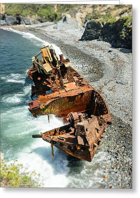 Water Scrapping Greeting Cards - Tugboat Klemens II Greeting Card by Marco Oliveira