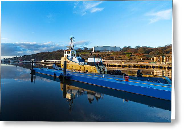Tugboat Greeting Cards - Tugboat Moored At The River Suir Greeting Card by Panoramic Images