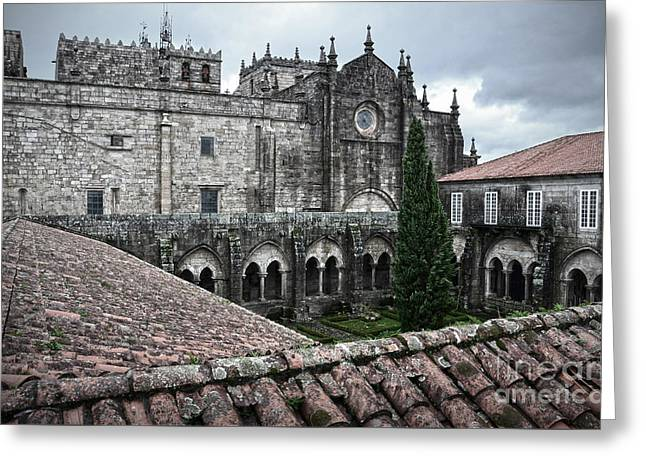 Galicia Greeting Cards - Tui Cathedral Cloister Greeting Card by RicardMN Photography
