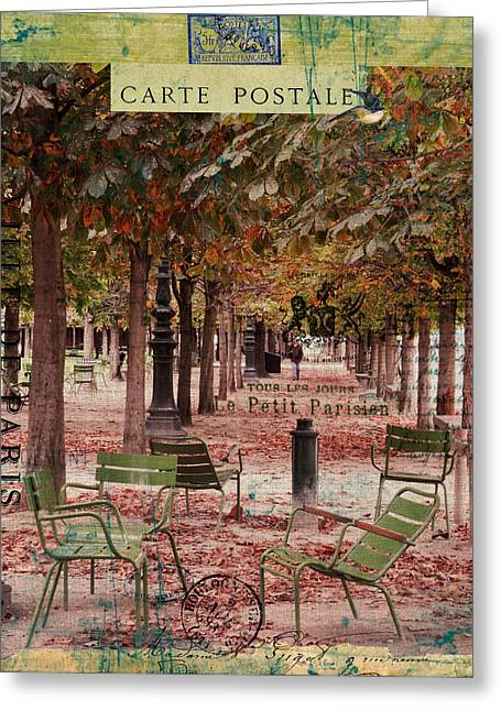 Commercial Photography Paintings Greeting Cards - Tuileries Greeting Card by Sandy Lloyd