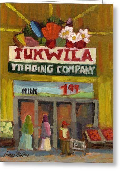 Fruits And Vegetables Greeting Cards - Tukwila Trading Co. Greeting Card by Diane McClary