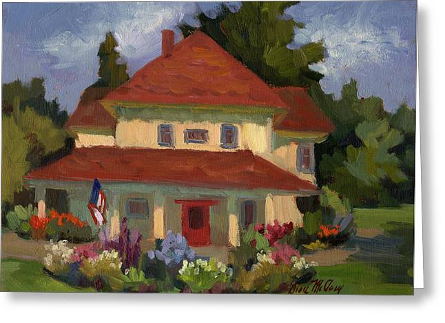 Helen Greeting Cards - Tukwilla Farm House Greeting Card by Diane McClary