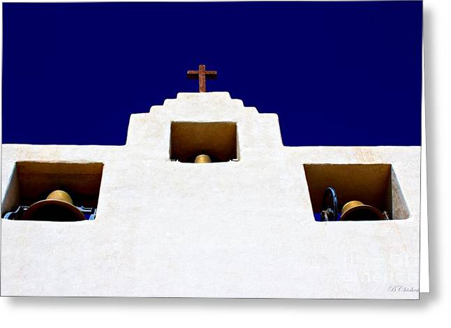 Las Cruces Digital Art Greeting Cards - Tularosa Greeting Card by Barbara Chichester