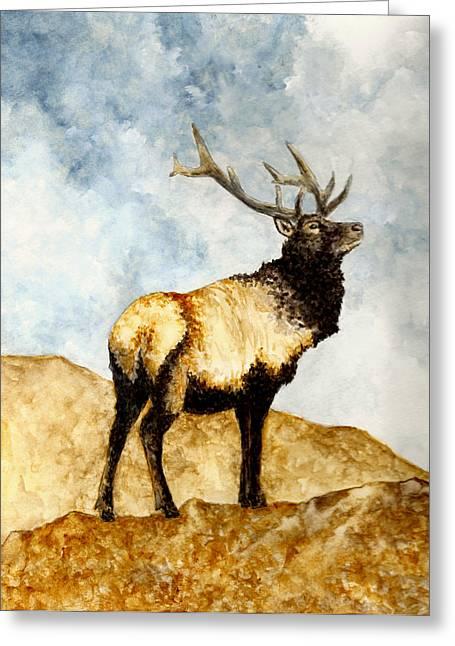 California Art Paintings Greeting Cards - Tule Elk Greeting Card by Michael Vigliotti