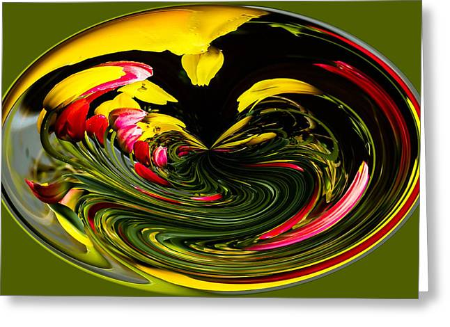 Ron Roberts Photography Photographs Greeting Cards - Tulip Abstract Greeting Card by Ron Roberts