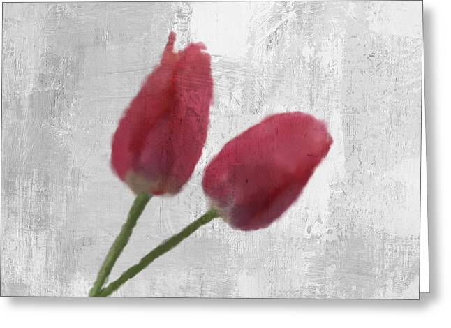 Art Decor Greeting Cards - Tulip Greeting Card by Aged Pixel