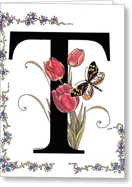 Stanza Widen Greeting Cards - Tulip and Tiger Pierid Butterfly Greeting Card by Stanza Widen