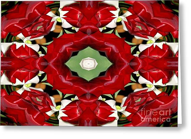Floral Digital Art Digital Art Greeting Cards - Tulip and Easter Lily Abstract 2 Greeting Card by Rose Santuci-Sofranko