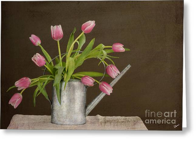 Flower Arraignment Greeting Cards - Tulip Bouquet  Greeting Card by Alana Ranney