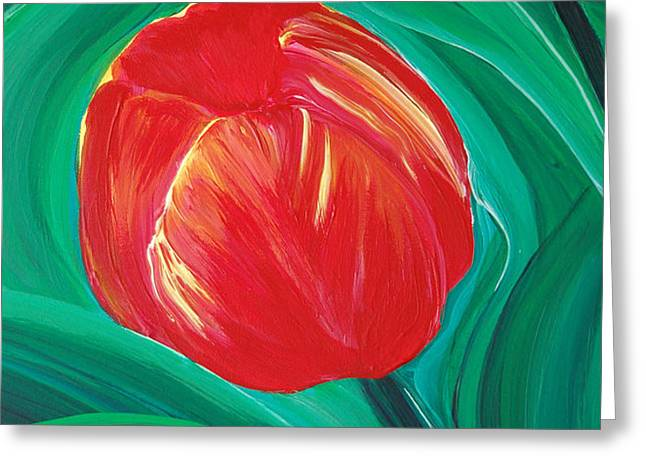 Tulip Diva by jrr Greeting Card by First Star Art
