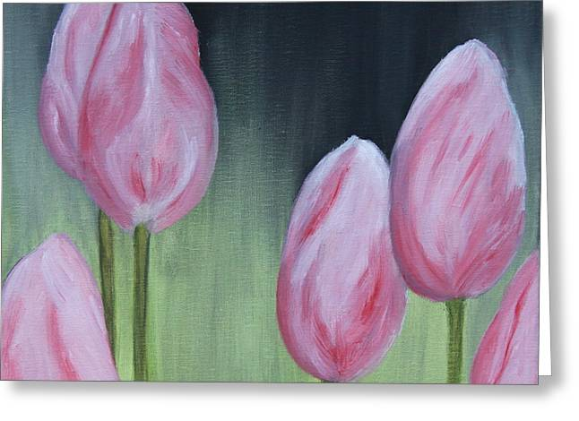 Christiane Schulze Greeting Cards - Tulip Dream - Oil Painting Greeting Card by Christiane Schulze Art And Photography