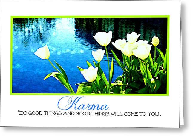 Tulip Karma Greeting Card by Tina Meador