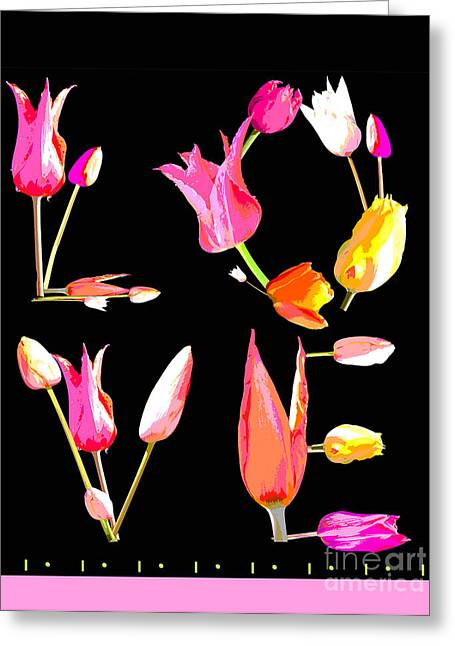 Surface Design Greeting Cards - Tulip Love Art Print Bedding Greeting Card by Anahi DeCanio - ArtyZen Home