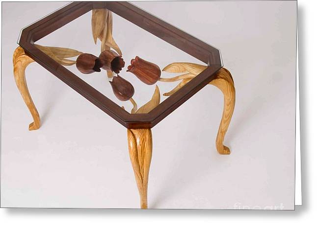 Tulip Table Greeting Card by Hans Droog