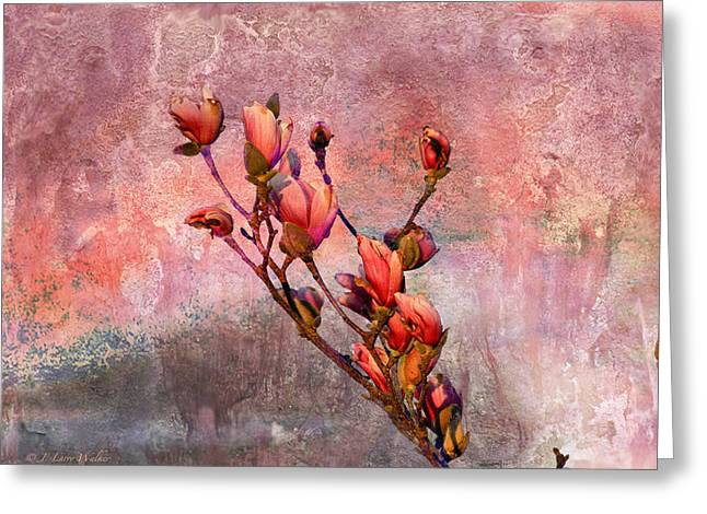 Tulip Tree Budding Greeting Card by J Larry Walker