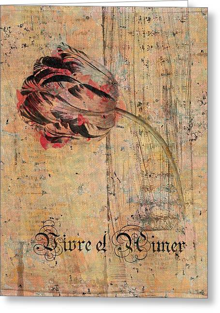Tulip - Vivre Et Aimer S04t05 Greeting Card by Variance Collections