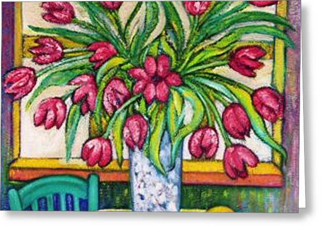 TULIPS   2 Greeting Card by Gunter  Hortz