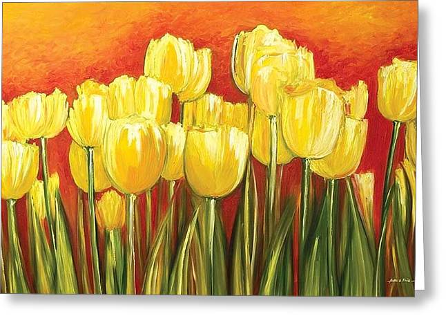 Ahmed Amir Greeting Cards - Tulips Greeting Card by Ahmed Amir