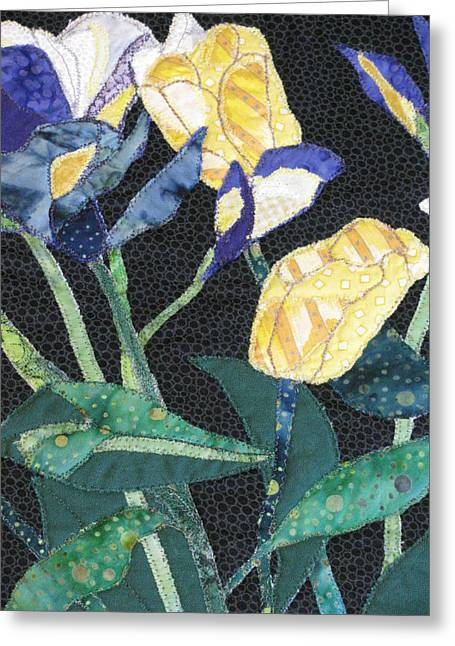 Tulips And Irises Detail Greeting Card by Lynda K Boardman