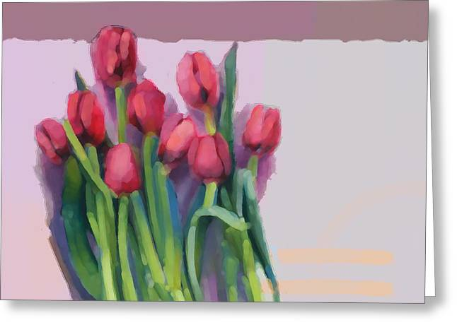 Melon Greeting Cards - Tulips Greeting Card by Cathy Locke