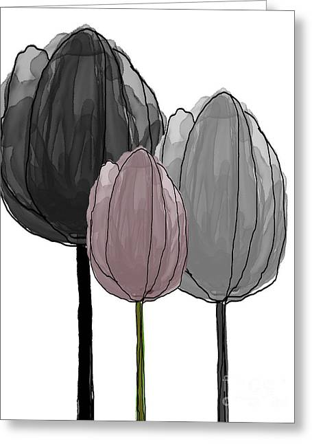 Spring Bulbs Mixed Media Greeting Cards - Tulips collection II Greeting Card by Mira Dimitrijevic