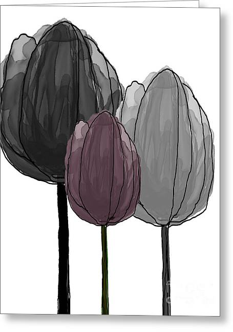 Spring Bulbs Mixed Media Greeting Cards - Tulips Collection V Greeting Card by Mira Dimitrijevic