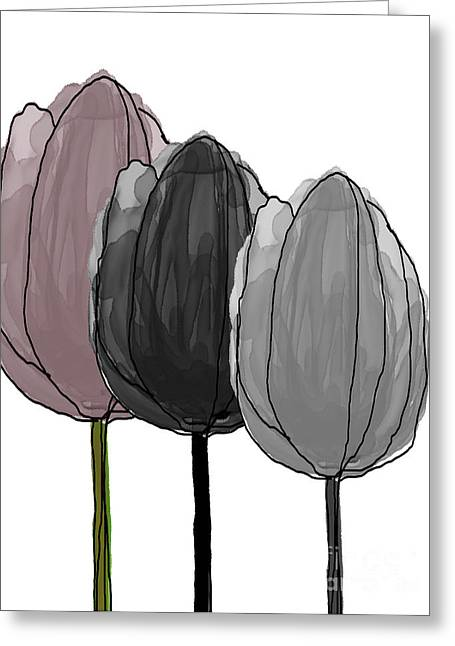 Spring Bulbs Mixed Media Greeting Cards - Tulips Collection VIII Greeting Card by Mira Dimitrijevic