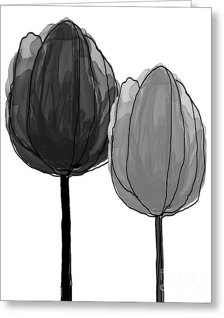 Spring Bulbs Mixed Media Greeting Cards - Tulips Collection X Greeting Card by Mira Dimitrijevic